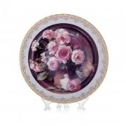 Настенная тарелка 32 см «Цветы 8»