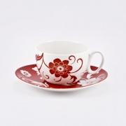 Набор 6 чайных пар «Амата Красный»