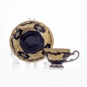 Набор кофейный 160 мл. на 6 перс. 12 пред. «Кленовый лист синий» подарочный