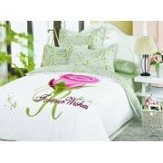 Комплект пос. белье ARYA сатин с одеялом и юб. 200х220 JANNA
