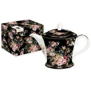 Чайник (чёрный) Цветочный карнавал
