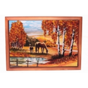 Картина «Пейзаж с лошадьми»