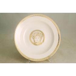 Набор из 6 суповых тарелок 23 см «Versace - gold»