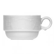 Чашка чайная «Моцарт», фарфор, 180мл, белый