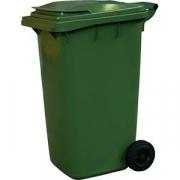 Контейнер для мусора на обрезин. колесах H=119, L=58, B=74см; зелен.