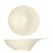 Салатник «Силуэт», фарфор, D=22см, белый