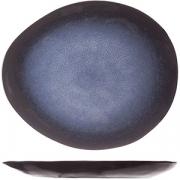 Тарелка для десерта L=20.5, B=17.5см; синий, черный