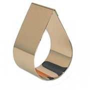 Форма конд. «Капля», сталь нерж., H=4,L=8,B=5см
