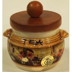 Банка для сыпучих продуктов с деревянной крышкой (чай) «Илария» 0.5 л