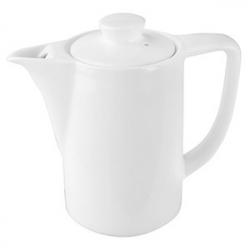 Кофейник «Кунстверк», фарфор, 910мл, D=86,H=165,L=171мм, белый