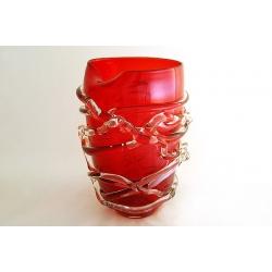 Ваза для цветов (красная) 29 см