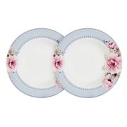 Набор из 2-х суповых тарелок Розовый блюз