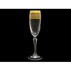 Бокал для шампанского Золотая коллекция, богатое золото