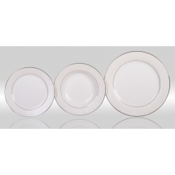 Набор тарелок «Серый шелк» на 6 персон 18 предметов