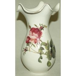 Ваза для цветов 23см «Роза Альба»(красная)