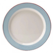 Тарелка мелкая «Рио Блю», фарфор, D=16.5см, белый,синий