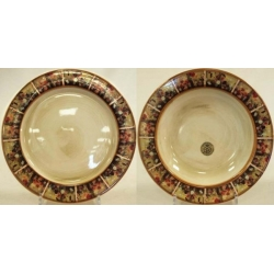 Набор тарелок «Илария» Суповая -23,5 см, обеденная - 25 см