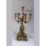Пара канд. 5 свечей цвет - золото Silva 45х26с 4229/10