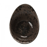 Салатник «Крафт», фарфор, 450мл, H=75,L=180,B=40мм, серый