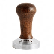 Темпер для кофе «Монин», сталь,дерево, D=57,H=90мм, тем.дерево,металлич.