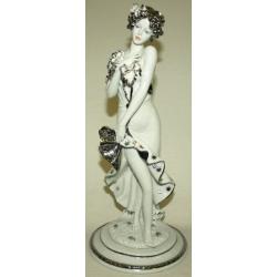 Статуэтка «Девушка - Лето» (белая с платиной) 30 см
