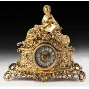 Часы «дама с книгой» цвет - золото 33х37см