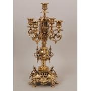 Пара канделябров 5 свечей золотистый 45х22 см.