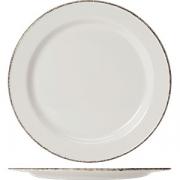 Тарелка мелкая «Браун дэппл» D=27см; белый, коричнев.