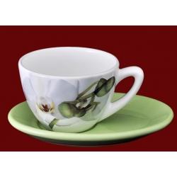 Чашка с блюдцем 0,4л «Орхидея»