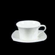 Набор из 6 чайных пар Форте белый