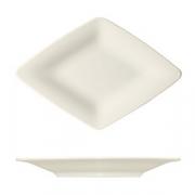 Блюдо «Рафинез», фарфор, L=42,B=29.5см, белый