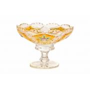 Ваза для варенья «Хрусталь с золотом 60550» 15,5 см.