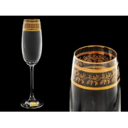 Бокал для шампанского Эсприт, Орнамент золотой