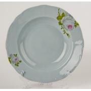Набор глубоких тарелок 24 см. 6 шт. «Алвин голубой»