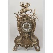 Часы «Всадник и птицы» каштан 46х26 см.