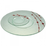 Тарелка мелк «Пирл» d=36см прозрач.