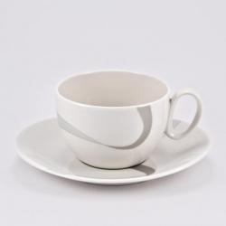 Чашка 390мл с блюдцем 18см «Атласная лента»