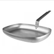 Сковорода прям.38*26см белая сталь