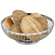 Корзина для хлеба; сталь нерж.; D=25.5см