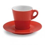Пара чайная; фарфор; 210мл; красный