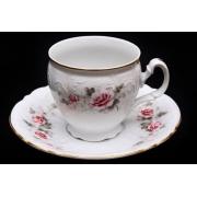 Набор для чая на 6 перс. 12 пред. выс. н/н «Роза серая 5396011»