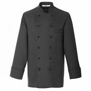 Куртка поварская,р.52 б/пуклей, полиэстер,хлопок, черный