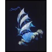 Летучий голландец,40х30 см, 1396 кристаллов