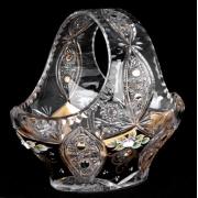 Корзина «Хрусталь с золотом 96027» 25,5 см.