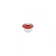 Кастрюля для сервировки с крышкой «Революшн» D=136, H=92мм; белый, красный
