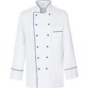 Куртка поварская с окант.54р. без пуклей хлопок; белый, синий
