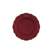 Тарелка суповая Аральдо (бордовый)