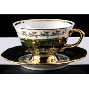 Набор для чая 200 мл. «Лист зеленый» на 6 перс. 12пр.