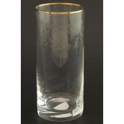 Стакан для воды 300 мл Гольф декор панто+втертая платина +золотая кайма
