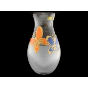 Ваза матовая 25см тропическая бабочка